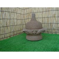 島根県産の出雲石です。寸法は前幅約19×奥行約19×高さ約22.5cmです。この商品は一部破損してま...