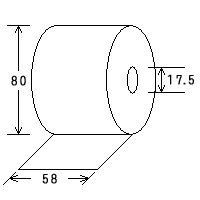 レジペーパー(上質紙)<20巻>(58mm幅×80径)レジロール・ロールペーパー|himejiya|02