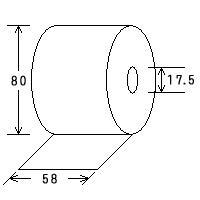 サーマルペーパー(感熱紙)<80巻>(58mm幅×80径)レジペーパー・レジロール・ロールペーパー|himejiya|02