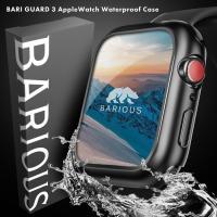 BARIOUS BARIGUARD3 for AppleWatch アップルウォッチ用 防水ケース マットブラック Apple Watch Series6 Series5 Series4 SE 40mm 44mm カバー 全面保護 衝撃