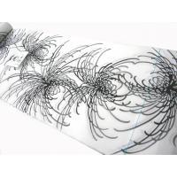 竺仙(ちくせん江戸ゆかた)綿コーマ白地浴衣 糸菊29-19 浴衣反物