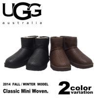 UGG アグ ムートンブーツ  クラシックミニ ウーブン  メンズ  [カラー]Black(BLK)...
