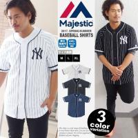[ブランド]MAJESTIC(マジェスティック) [アイテム]ベースボールシャツ / ニューヨーク ...