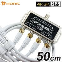 衛星波(BS/CS)と地上波(UHF/VHF)を2台の機器へ効率良く分波します。 コネクタはネジ式で...