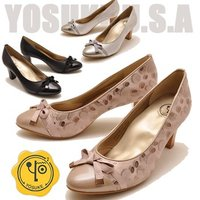 【YOSUKE U.S.A】ヨースケ 靴のパンプス ファッション/レディース/リボンパンプス/パンプ...