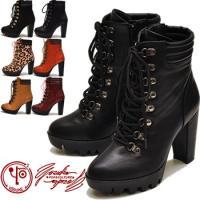 【YOSUKE U.S.A】ヨースケ 靴 ファッション/レディース/レースアップ/ショートブーツ/編...
