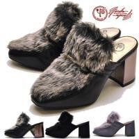 【YOSUKE U.S.A】ヨースケ 靴のパンプス ファッション/レディース/ファーサンダル 太ヒー...