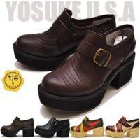 【YOSUKE U.S.A】ヨースケ 靴の厚底パンプス ハイヒール ファッション/レディース/ローフ...