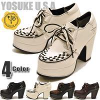 【YOSUKE U.S.A】ヨースケ 靴の厚底パンプス ハイヒール ファッション/レディース/ラバー...