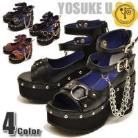 ファッション/レディース/厚底ブーツ/前厚/プラットフォーム/ブーツ/YOSUKE/ヨースケ/ショー...