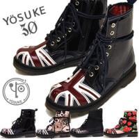【YOSUKE U.S.A】ヨースケ 靴 ショートブーツ ファッション/レディース/編み上げブーツ/...