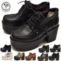 【YOSUKE U.S.A】ヨースケ 靴 厚底靴 ハイヒールファッション/レディース/厚底編み上げシ...