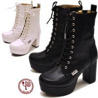 【YOSUKE U.S.A】ヨースケ 靴 ファッション/レディース/レースアップ/編み上げブーツ/厚...