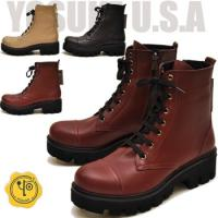 【YOSUKE U.S.A】ヨースケ 靴  ファッション/レディース/レースアップ/編み上げブーツ/...