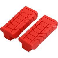 キジマ ステップラバー スーパーカブ110  カラー:赤 左右セット ノーマルイメージを崩さずに滑り...