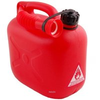 ガソリン携行タンク 5リッター 高密度ポリエチレン製です。 呼吸するノズル付属! (ガソリンが出る通...