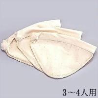 HARIO ハリオ ろか布 ウッドネック ネルドリップ  3枚セット 2〜4人用|hirocoffee-shop