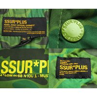 SSUR Plus コーチジャケット ミリタリー サープラス Assault Coaches Jacket S,M,Lサイズ Green Camo 迷彩 スケボー SKATE SK8 スケートボード PUNK パンク