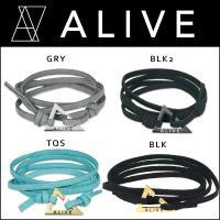 大人気、湯川正人プロデュース☆ALIVE(アライブ)のブレスレットです。ALIVEのシンボルでもある...