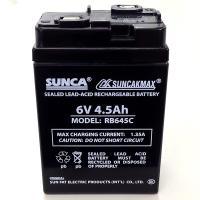 充電式電池 バッテリー  RB645C  6V/4.5Ah 鉛蓄電池 充電式 扇風機 ラジオ LED...