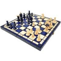 カラー チェスセット 木製 Charis/カリス ブルー 35cm×35cm ポーランド製 数量限定販売