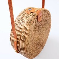 かごバッグ アタ製 アタ編み ショルダー サークル ラウンド 斜めがけ おしゃれ かわいい