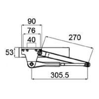 送料無料  トステム ドアクローザ ブロンズ DCFZ701 92.1〜99.9 リジェーロII 9...