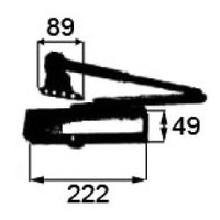 トステム ドアクローザ ホワイト DEJZ020     (1 セット)、半外付け枠用    ストッ...