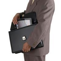 (国産)(B4サイズ対応)G-GUSTO 合皮カブセクラッチ ビジネスバッグ 大(黒) 23466/01(ブリーフケース)(平野鞄)(メール便不可)