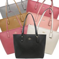 << COACH Crossgrain City Zip Tote Leather &g...