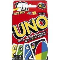 定番カードゲーム「UNO」。カード枚数108枚。 対象年齢7才以上。2〜10人用。 大人から子どもま...