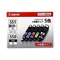 こちらの商品(Canon インク カートリッジ 純正 BCI-351XL(BK/C/M/Y)+BCI...