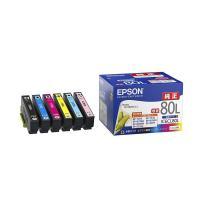 ■EPSON エプソン 純正 インクカートリッジ IC6CL80L 6色セット 増量  対応機種:E...