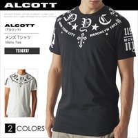 ALCOTT アルコット Tシャツ メンズ 半袖 TEE プリント TS10737 AC11489SL 正規品 本物保証 メール便送料無料
