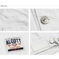 ALCOTT アルコット デニムジャケット メンズ Gジャン ホワイトデニム  GB2938 ヴィンテージ加工 AC41083