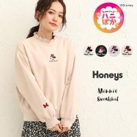 Honeys ハニーズ トレーナー(ミニー)【WEB限定LLサイズ有】