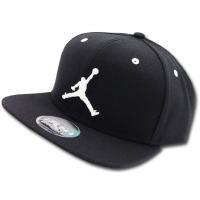 JC655 Jordan Jumpman True Snapback Cap ジョーダン キャップ 黒白【サイズ調節ベルト付き】