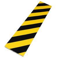 駐車場などのコーナーに。危険表示と安全保護用のクッション性のコーナーガード。トラ柄(黄黒)Vカットで...