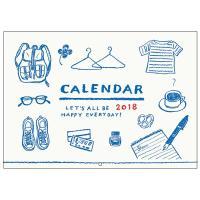 トリコロールカラーが印象的なシンプルでかわいいイラストカレンダーです。 スケジュールがたっぷり書き込...