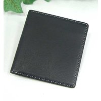 THINLY スィンリー Bシリーズ 薄型2つ折財布 ブラック 札入れ(小)スムース牛革タイプ SL-B-S02BLK