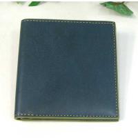 THINLY スィンリー Hシリーズ 薄型2つ折財布 ブルー色 札入れ(小)ヌメ革タイプ SL-H-S02BLUE