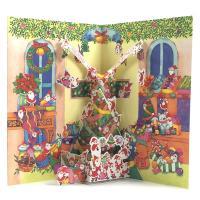 カードを開くと小さなサンタがたくさん登場するポップアップクリスマスカードです。  ◇パッケージサイズ...