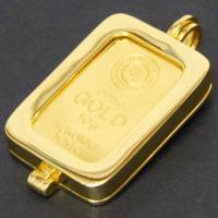 徳力本店 24金 純金 インゴット ペンダントトップ 10g 枠脱着可能 ゴールドバー K24 ingot(50465)