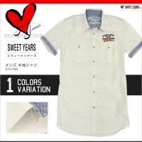 SWEET YEARS スウィートイヤーズ シャツ 半袖 メンズ ホワイトシャツ スイートイヤーズ SYU769 SY19003 正規品 本物保証