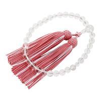 ・すべての宗派でお使い頂ける女性用略式数珠です。 ・魔除けや浄化の石として知られ透明感が清く美しい本...
