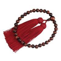 ・すべての宗派でお使い頂ける女性用略式数珠です。 ・落ち着きある深い赤茶色で模様が美しく男女問わず人...