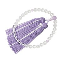・すべての宗派でお使い頂ける女性用略式数珠です。 ・透明感が清く美しい本水晶の程良く存在感のある8m...