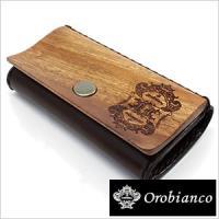 【型番】OROBIANCO-0003【素材】材質:表(木製部分):マホガニー<br>レザ...
