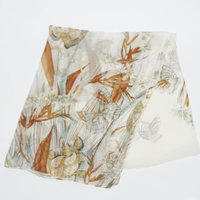 (SGH2114E) 誕生日や大切な記念日のプレゼントに最適 大判 スカーフ ストール シルク100%