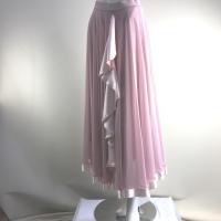 サテンのフリルが可愛いスカート スカート丈90cm スカートウエスト Mサイズ 64cm〜 Lサイズ...